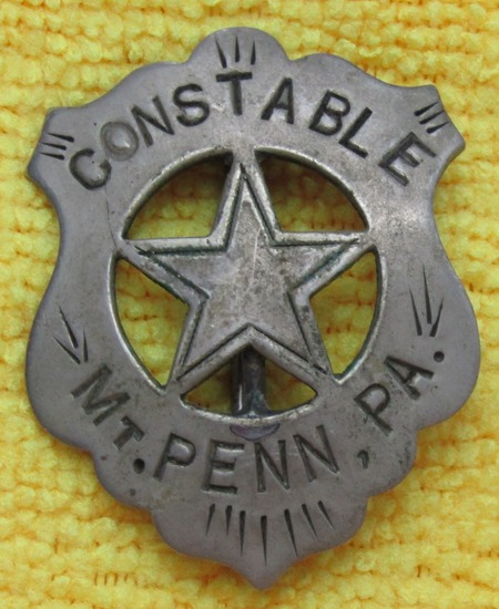 "Ca. Early 1900's ""MT. PENN, PA. CONSTABLE"" Badge"