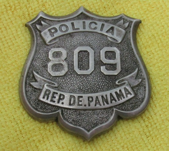 "Ca. Early 1900's ""REPUBLIC OF PANAMA POLICIA"" Badge"