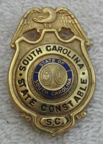 "1950-60's Vintage ""SOUTH CAROLINA STATE CONSTABLE"" Pocket Badge W/Clip"