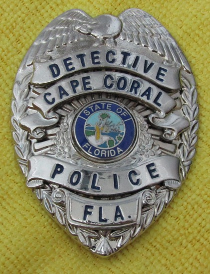 "Ca. 1950-60's ""CAPE CORAL, FL. DETECTIVE"" Badge"