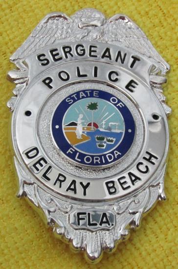 "Ca. 1960-70's ""DELRAY BEACH, FL. POLICE SERGEANT"" Badge"