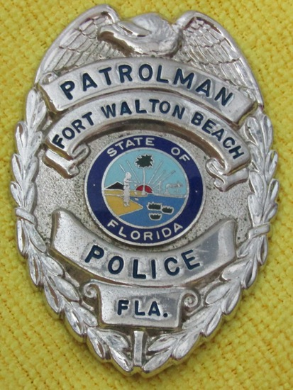"Ca. 1950-60's ""FORT WALTON BEACH, FL. PATROLMAN"" Badge"