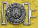 Wehrmacht Officer's Brocade Belt Buckle W/Keeper-ASSMANN