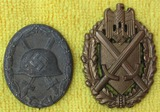 2pcs-Silver Wound Badge Maker 127/Grade 5 Marksmanship Lanyard Device