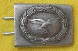 Luftwaffe Pebbled Aluminum Belt Buckle For Enlisted-Gustav Brehmer