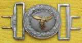 Luftwaffe Officer's Brocade Belt Buckle W/Keeper-OLC