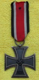 Iron Cross 2nd Class With Ribbon-3pc Construction-Magnetic Center