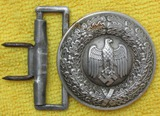 Wehrmacht Officer's Brocade Belt Buckle-No Keeper Present