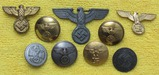 9pcs-Misc Nazi Political Related Insignia/Buttons