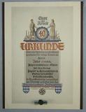 Rare Bavarian Industrial Service 40yr Award Document-Lapel Honor Device
