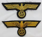 2pcs- WW2 Kreigsmarine Breast Eagle Variants