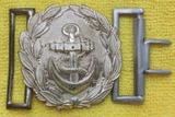 Scarce WW2 Period Kreigsmarine Administration Officer's Belt Buckle With Keeper