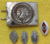5pcs-Hitler Youth Combat Worn Buckle-Rally Pins