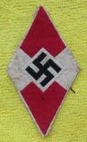 Hitler Youth Bevo Embroidered Sleeve Diamond