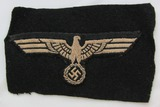 Panzer Enlisted Breast Eagle Period Sewn On Cut Off Panzer Wrapper Remnant