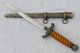 Wehrmacht Officer's Dagger With Scabbard-Officer's Monogrammed Initials On Reverse Cross Guard
