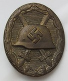 Scarce Wound Badge In Gold With Soldiers Initials Etched On The Reverse