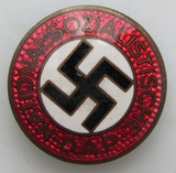 Early Type Button Hole NSDAP Party Member Pin-RZM M1/57