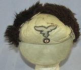 Luftwaffe  Fur/Sheepskin Winter Cap-Exhibits Moderate Combat Wear