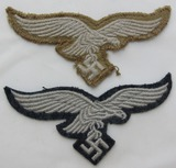 2pcs-Scarce Luftwaffe Tropical Breast Eagle-Embroidered Breast Eagle For Wool Tunic