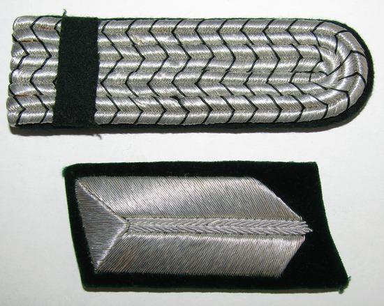 2pcs-Early RAD Single Collar Tab-BahnSchutzpolizei Shoulder Board
