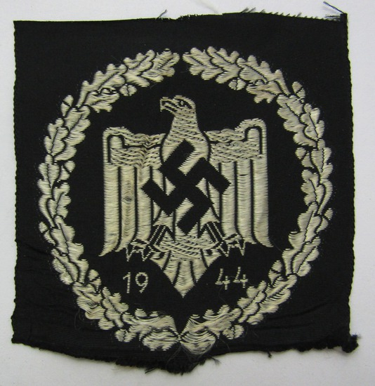 1944 Dated NSRL Bevo Embroidered Sports Patch In Silver