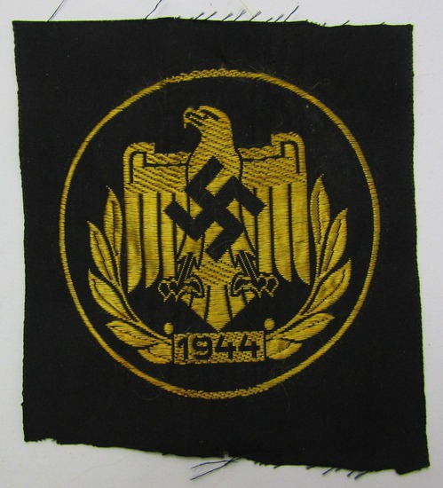 1944 Dated NSRL Bevo Embroidered Sports Patch In Gold