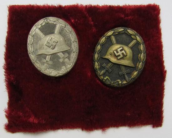 WW2 Vet Bring Back Black & Silver Wound Badges