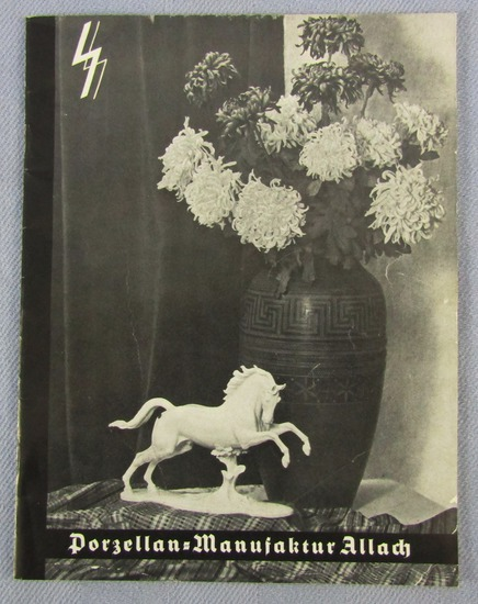 """Scarce Original Period 1938/39 Dated """"SS ALLACH"""" Porcelain Product Catalog"""
