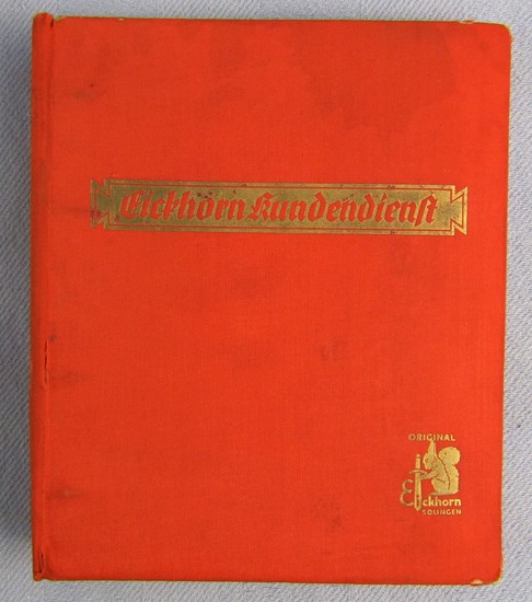 Rare Original WW2 Period Eickhorn Product Catalog In Ring Binder