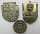 3pcs-Early Third Reich Rally Badges-1934 & 1938 Dated
