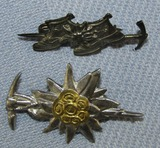 2pcs-WW2 Period German Mountain Troops Related Pins