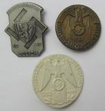 3pcs-Pre WW2 German NSDAP Kreistag Rally Badges