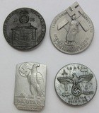 4pcs-Misc. WWII Earlier NSDAP Rally Badges