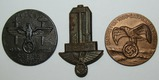 3pcs-WWII/Earlier Third Reich/NSDAP Rally Badges-Nice Original Examples