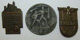 3pcs-Early Third Reich NSBO (1933) & NSDAP (1937/1938) Rally Badges
