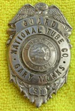 Rare Ca. 1940's State Of Indiana National Tube Co., Gary Works Security Guard Badge-#ered