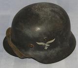 Modified M40 German Luftwaffe Dbl Decal Helmet W/Italian M33 Helmet Liner