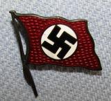 Enameled Nazi NSDAP Party Flag Pin