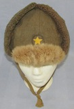 Nice Example-WWII Period Japanese Soldier Cold Weather Fur Cap
