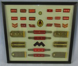 WW2 Japanese Army Uniform Rank Insignia-Framed By Pacific Theater U.S. Vet