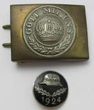 2pcs-WW1 German Enlisted Belt Buckle-Scarce 1924