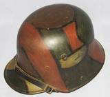 WW1 German Soldier Geometric Camo M17 Helmet With Partial Liner-Named
