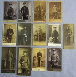 13pcs-WW1/Prussian Soldier CDV Portrait Photographs