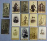 14pcs-WW1/Prussian Soldier CDV Portrait Photographs