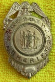 Ca. 1920-30's State Of New Jersey Deputy Sheriff Badge-German Made