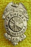 Ca. 1920-30's Wallington, New jersey Fire Dept. Ex. Foreman Badge