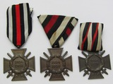 3pcs-WW1 German  Honor Crosses For Combatant-2 Are Parade Mounted