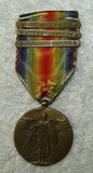 WW1 U.S. Victory Medal With 3 Campaign Battle Clasps