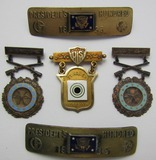 Rare Early 1930's U.S. EIC/14kt Gold Distinguished Marksman/NRA President's 100 Named Grouping